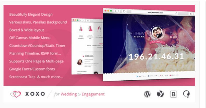 XOXO- WordPress Wedding Themes