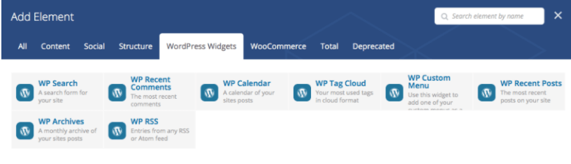 Add Widgets- Visual Composer Drag & Drop Page Builder Guide