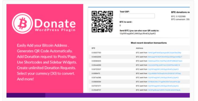 Bitcoin Donate - Cryptocurrency WordPress Plugins