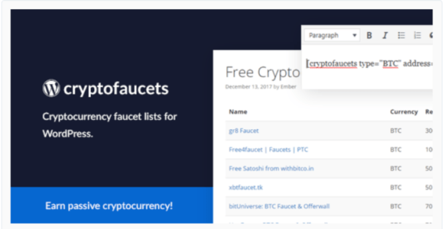 Cryptocurrency Faucet List- Cryptocurrency WordPress Plugins