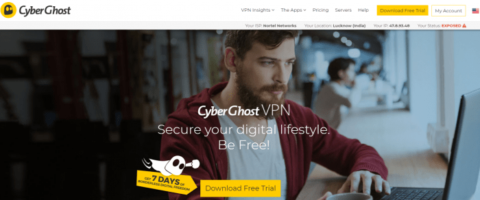 CyberGhost VPN- Best VPN For Syria