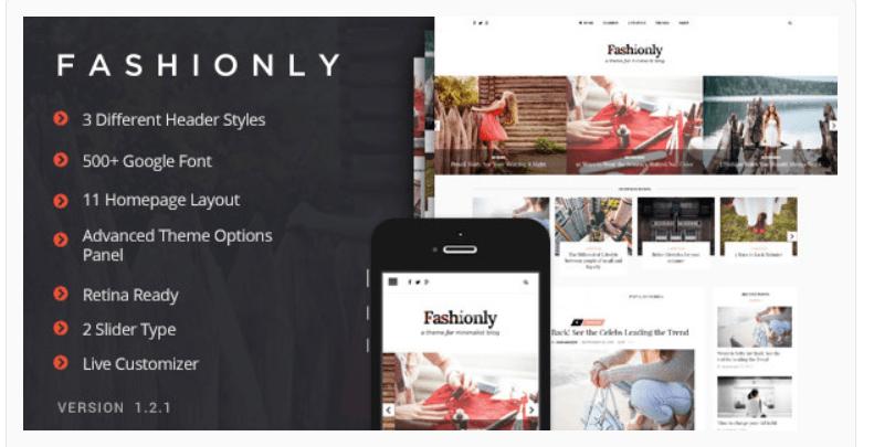 Fashionly - Fashion WordPress Themes