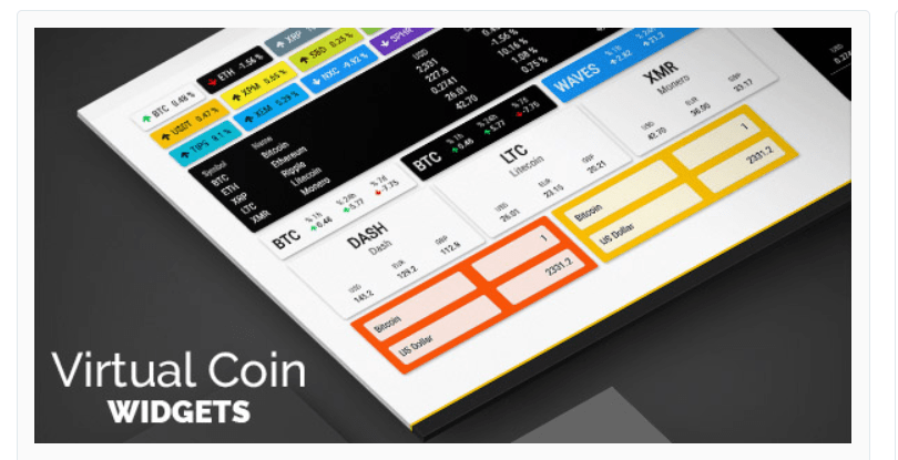 Cryptocurrency Charts - Cryptocurrency WordPress Plugins