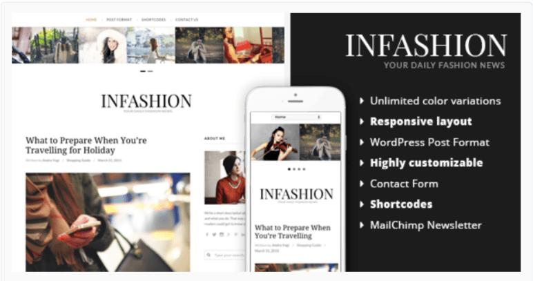inFashion - Fashion WordPress Themes