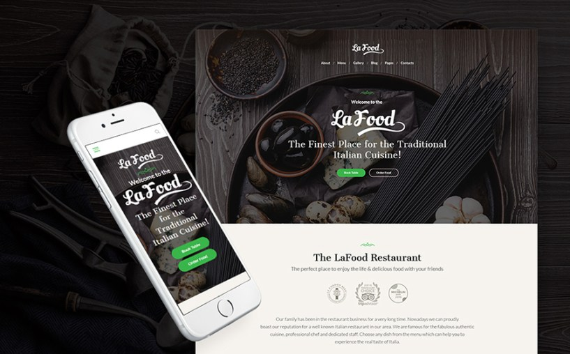Italian Cuisine WordPress Theme