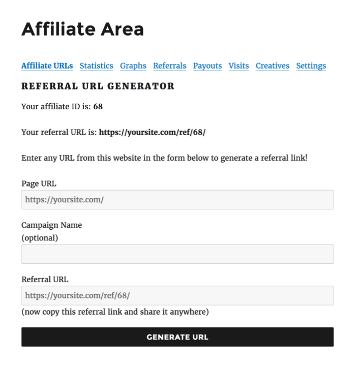 Referral URL Generator- AffiliateWP Review
