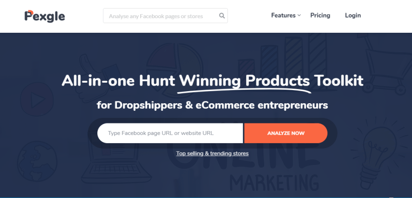 Pexgle- Find Winning Shopify Products