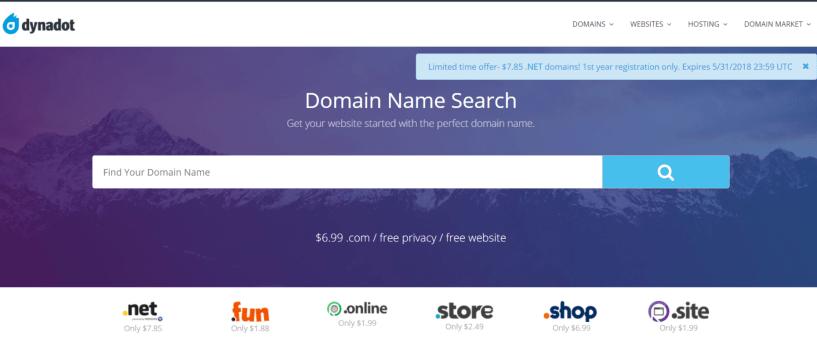 Domain Name Registration -Dynadot Review
