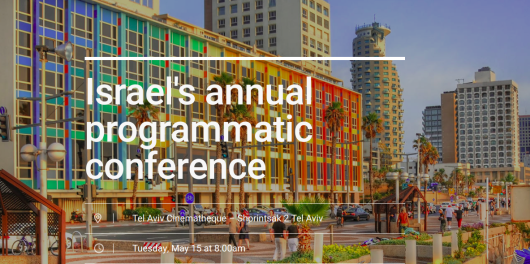 Israel s Annual Programmatic Video Conference Tel Aviv Israel May 15