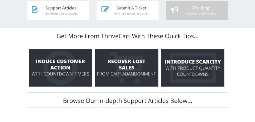 Thrivecart support