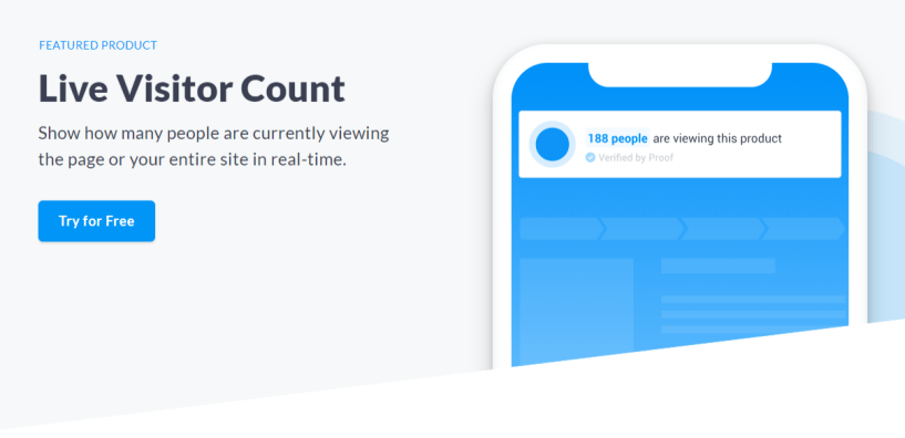 UseProof Review- Live Visitors Count