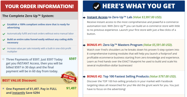 Zero Up Review- The Complete System Coaching Technology- Pricing