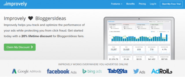 Improvely Review With Coupon Codes- BLoggersideas Discount