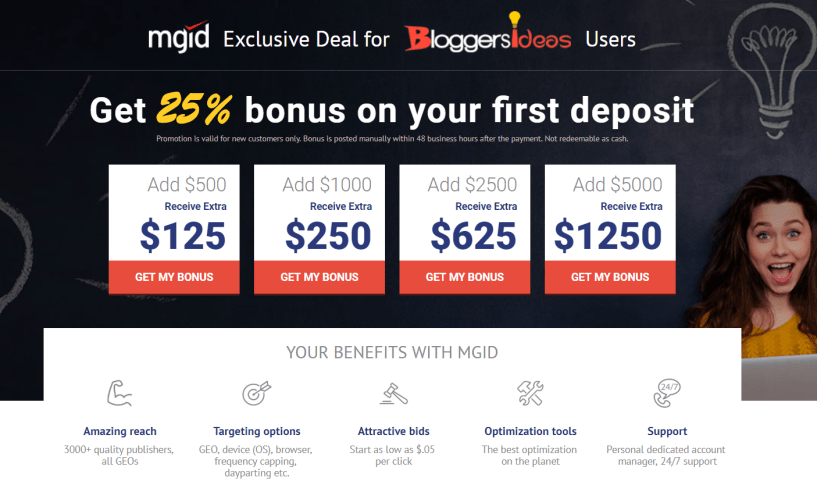 MGID Review- Bloggersideas Discount