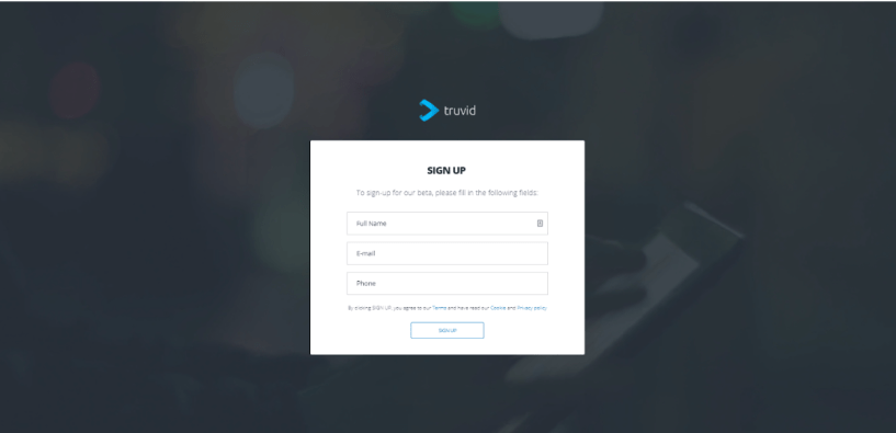 Truvid Review- Sign-up