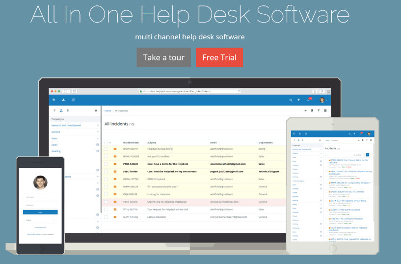 Vision Helpdesk Software Review pricing