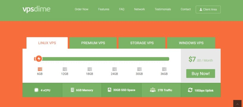 cheap web hosting provider- VPS dime