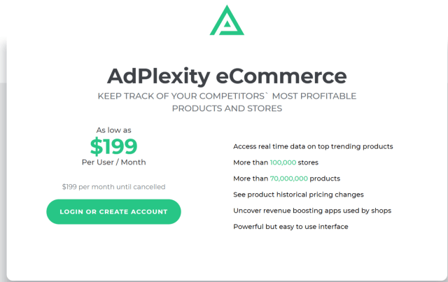 AdPlexity E-Commerce Review- The Selling Products