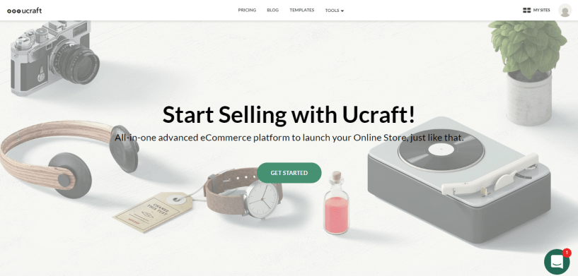 Ecommerce store Ucraft review
