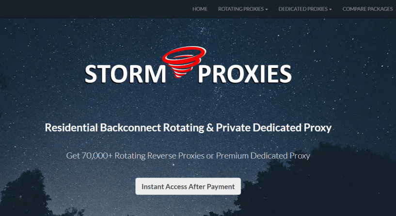 StormProxies- Best Private Residential Proxies