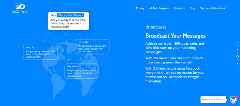 ZoConvert review -broadcast messages