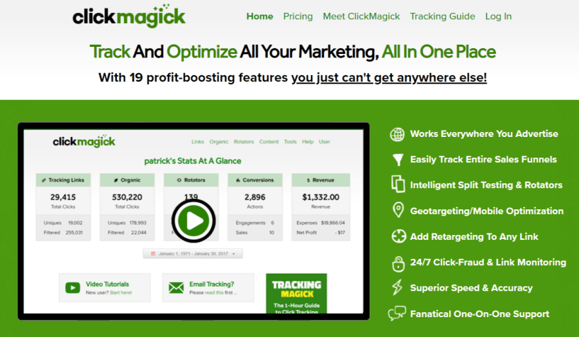 ClickMagick Review- Track And Optimize All Your Marketing