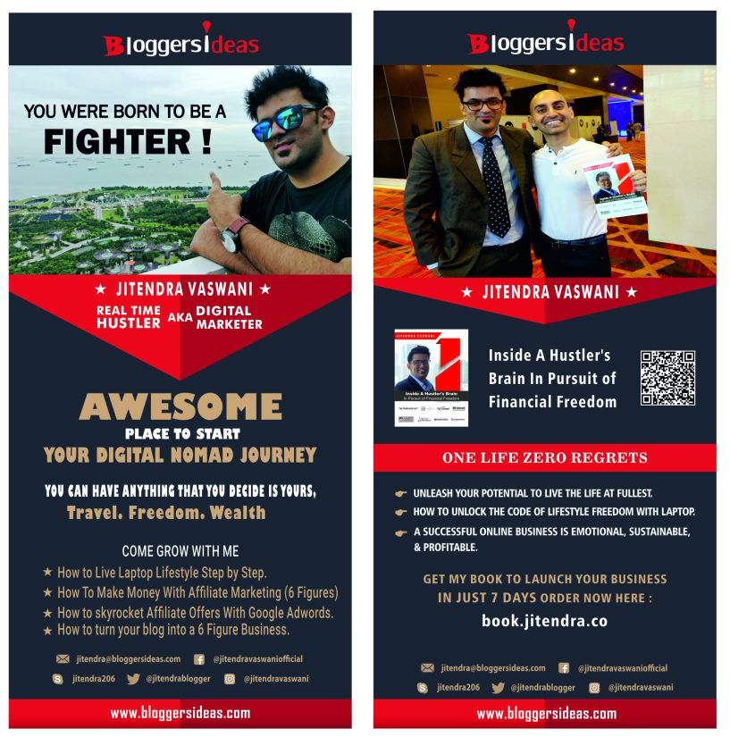 Jitendra Vaswani Standee Make Money Online Affiliate Marketing