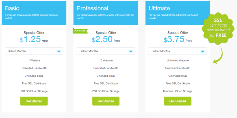 Miss Hosting Review- Shared Hosting Pricing