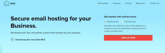 Best Dropshipping Tools- Zoho Mail
