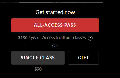 MasterClass Review- Pricing Plans