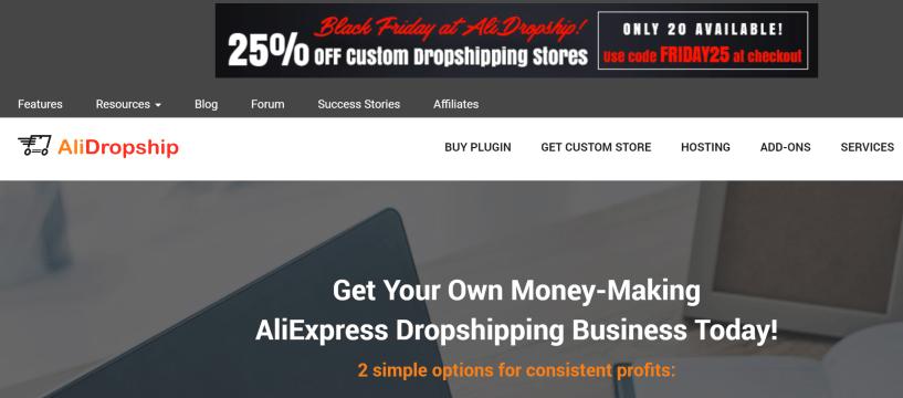 Alidropship black friday sale discount coupon