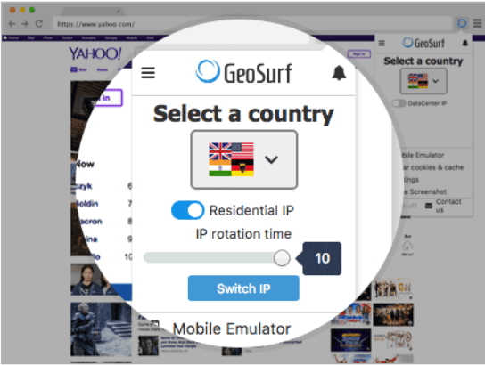 GeoSurf Review- Search Functions