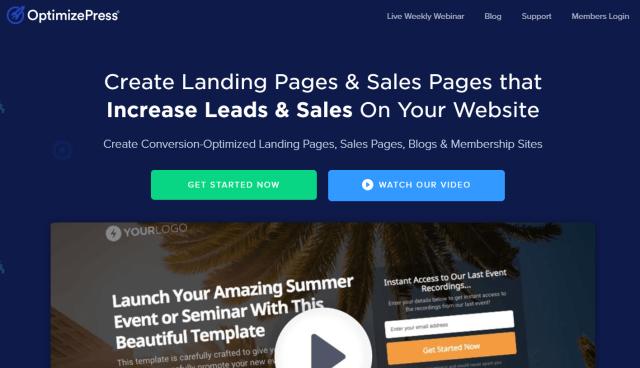 OptimizePress Review- Create Landing Pages & Sales Pages