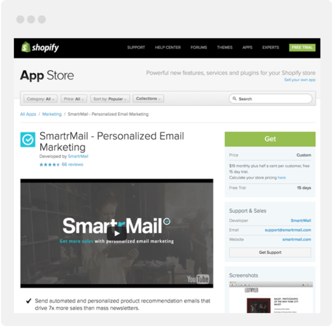 SmartrMail Review- E-Commerce Integrations