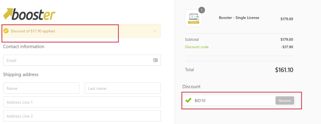 shopify Booster Theme Discount Coupon