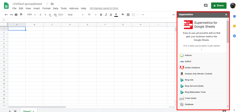 supermetrics spreadsheet coupons