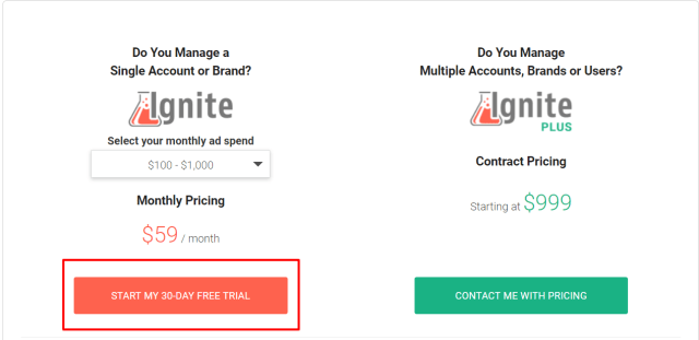 Ignite Review- Pricing Plans