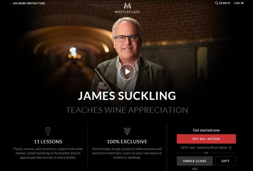 JamesSuckling masterclass