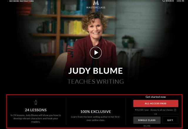 MasterClass Review- Judy Blume Teaches Writing