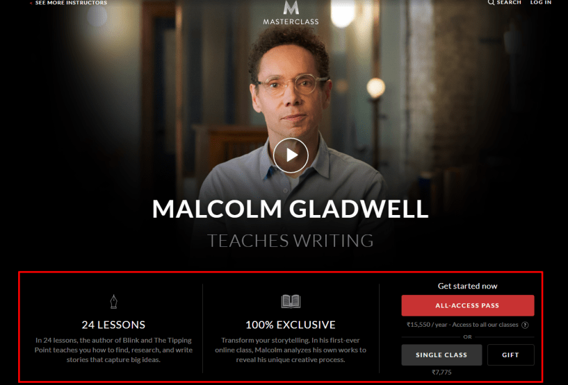 MasterClass Review- Malcolm Gladwell Teaches Writing
