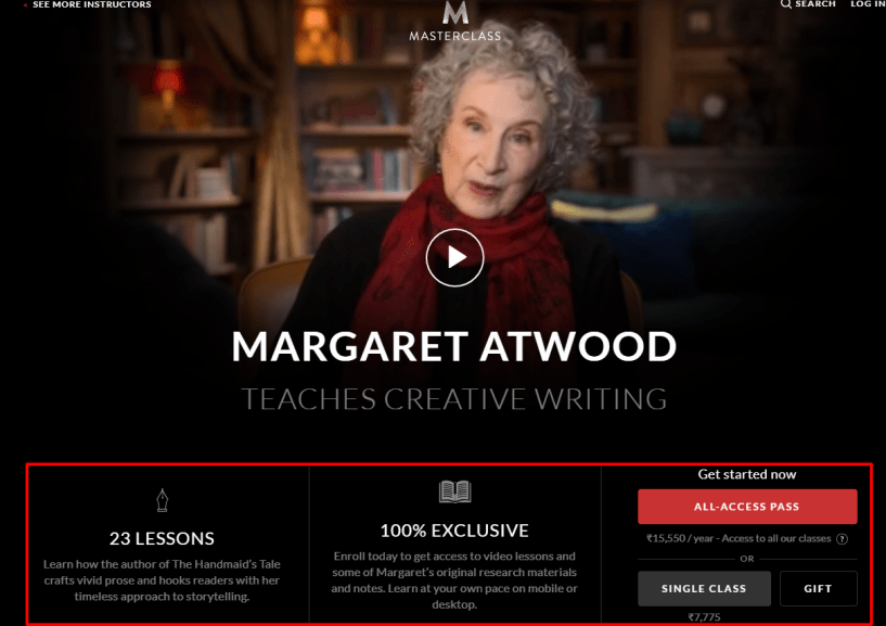 MasterClass Review- Margaret Atwood Teaches Creative Writing