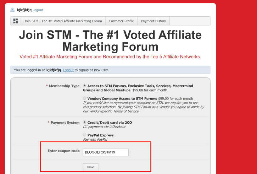 STM FORUM Discount Coupon Code