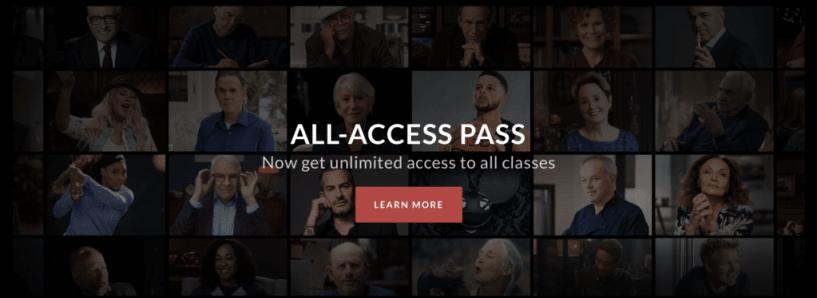 masterclass all access pass