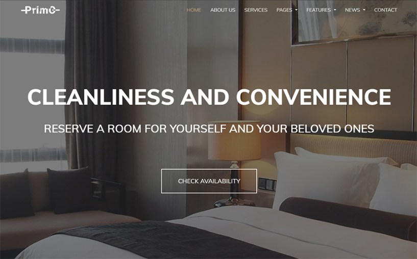 Primo - Hotel Elementor WordPress Theme