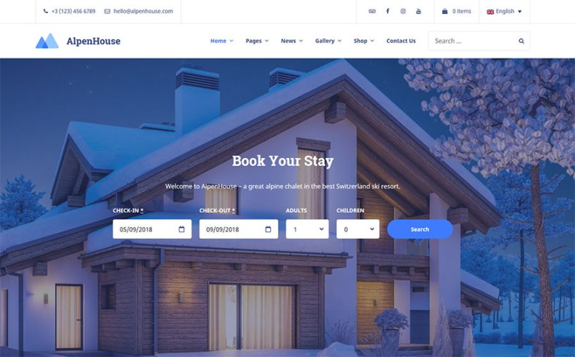 AlpenHouse - Vacation Rental WordPress Theme