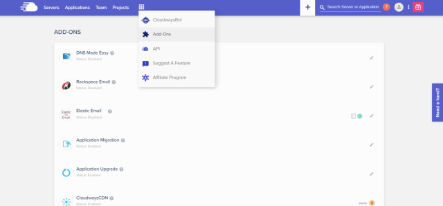 Cloudways Review- Appliction Addons