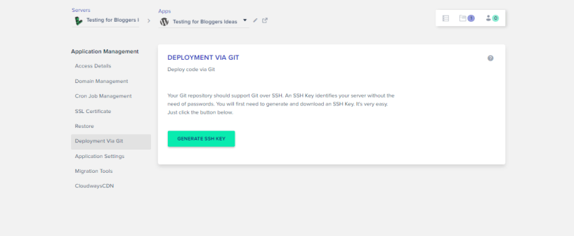 Cloudways Review- Deployment via GIT