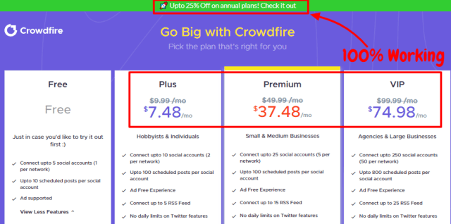 Crowdfire Review With Discount Coupon Codes- Get 25% Off Now