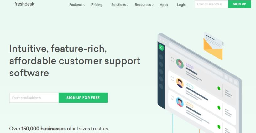 Freshdesk review home