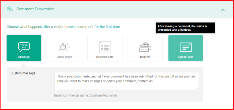 Thrive Comments Review- Conversions